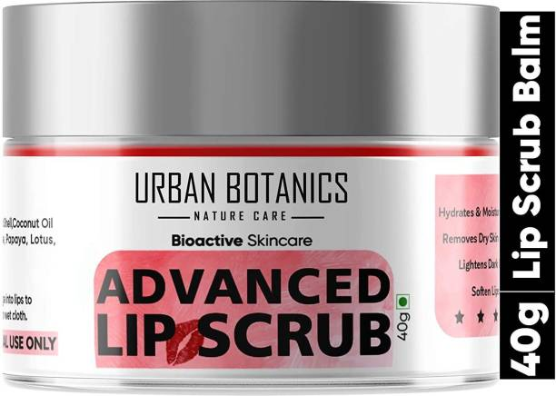 UrbanBotanics Advanced Lip Scrub Balm - Lightening and Brightening Dark Lips - Lip Scrub For Women & Men Smoker/Dry/Chapped Lip Care Scrub