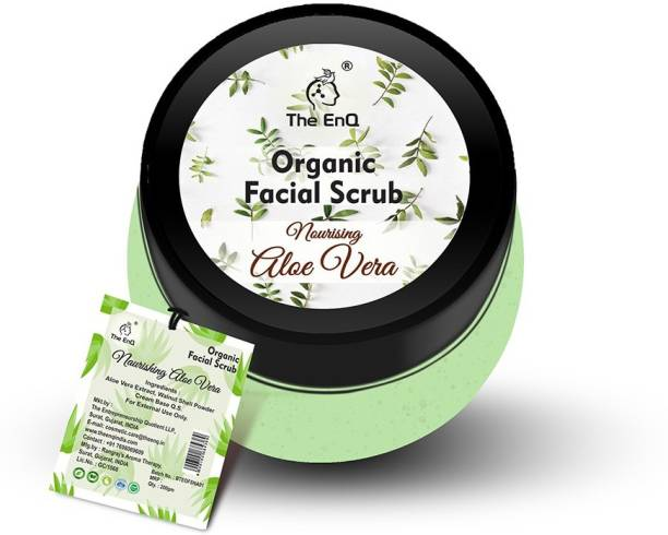 THE ENQ Organic Facial Scrub Nourishing Aloe vera/Removes Dirt & Girms From Skin/Gives Cooling Effect/Nourishes skin/Tan Removal/Removes Blackheads/Exfoliates Skin Men and Women Scrub