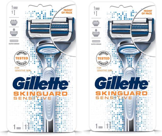GILLETTE Skin guard Senstive Razor (Pack of 2)