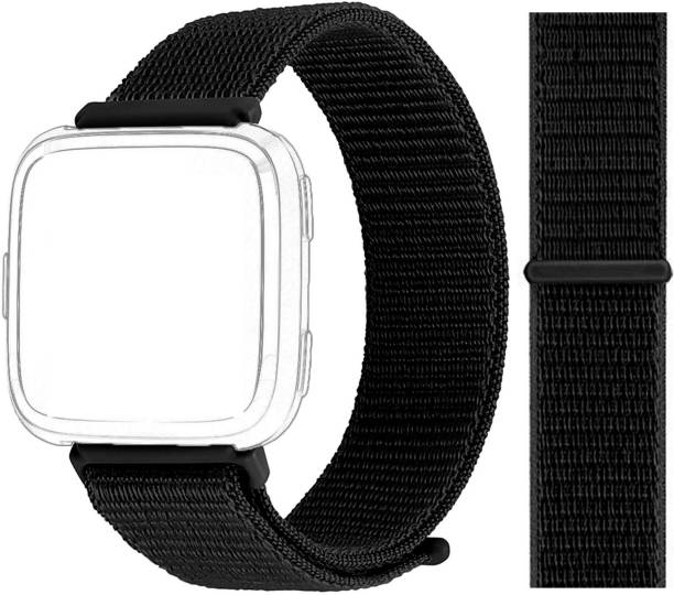 3Tree Woven Nylon Strap Compatible (Jet Black) ( Watch Not included) Smart Watch Strap