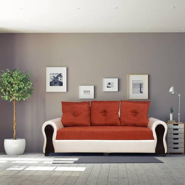 ELTOP Lifestyle Tulip Fabric 3 Seater  Sofa