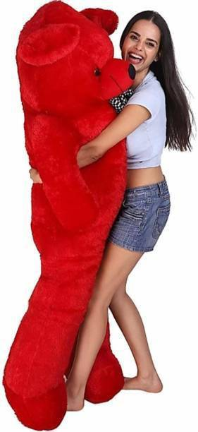 ridhisidhi 3FEET RED SPONGY.. DON'T MISS OUT.. BEAUTIFULL TEDDYBEAR...SITTING TEDDY...CUTE&SMOOTH BEAR...COOL TEDDYBEAR... {RED}92.6CM  - 92.6 cm