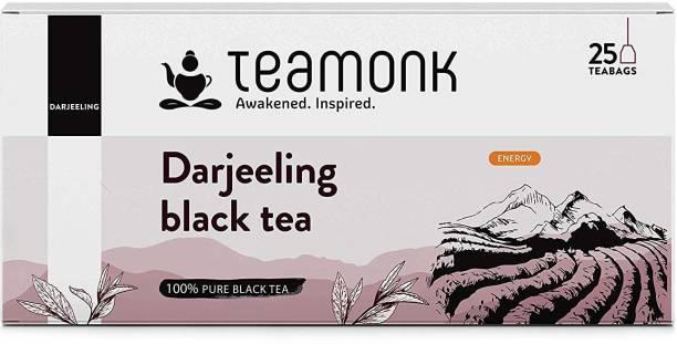 Teamonk Darjeeling Black Tea 25 Teabags Black Tea Bags Box