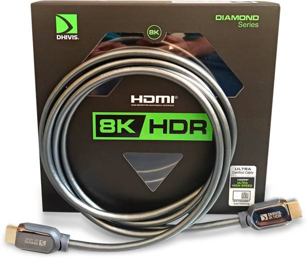 dhivis  TV-out Cable Certified HDMI 2.1– 2 Meters, 8K Diamond Series, 48Gbps - 4K (4096 x 2160) 120hz