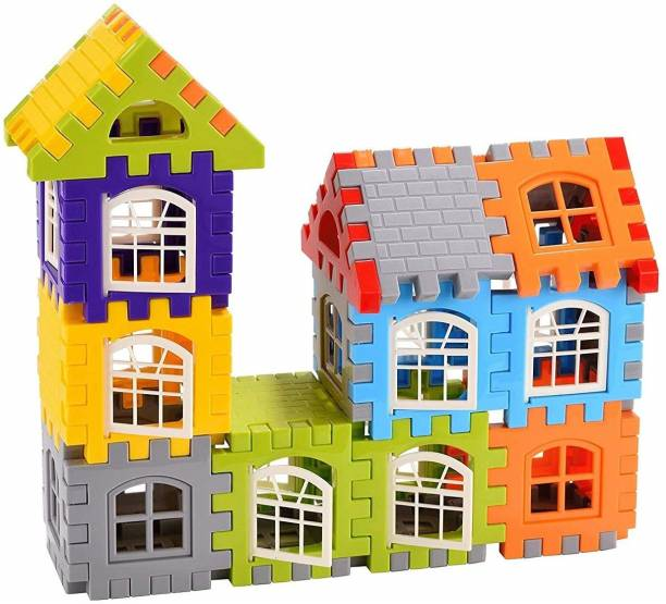 Kidzy unbreakable colourful PVC fiber assemble BUILDING BRICKS toy & stacking BLOCK & PIPE & assembling PARTS joint toys kit under create & build to GROW kids creativity & BRAIN TEASERS & children PUZZLE solving & boy ENGINEERING skill development & girl IQ buster & baby EDUCATIVE idea