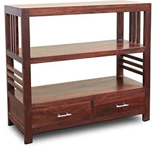 Kendalwood Furniture Solid Wood Semi-Open Book Shelf