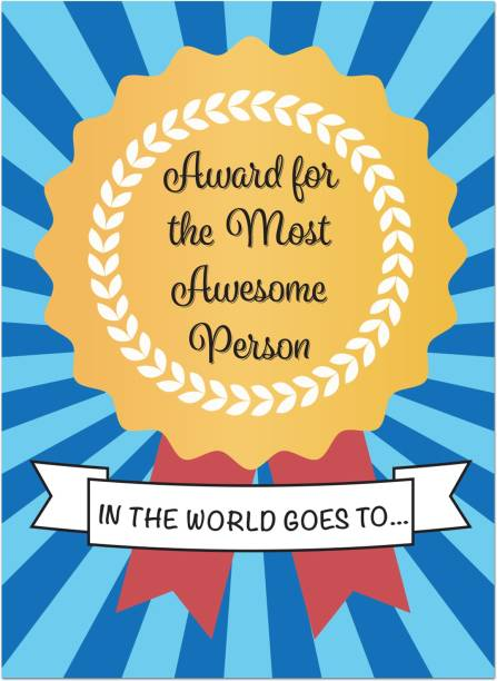 Kaameri Bazaar Most Awesome Person Greeting Card with Mirror Inside Greeting Card
