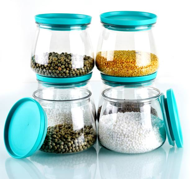 Shoptool Woman's 1st Choice Kitchen Storage Containers / Plastic Container / Masala Box / Kitchen Containers / Plastic Box / Kitchen Set / Storage Box / Storage Containers For Kitchen Organizer, Tea, Coffee, Sugar, Food, Grain, Rice, Masala, Pasta, Pulses, Spices  - 800 ml Plastic Grocery Container