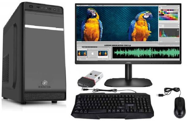 ZOONIS Z SERIES Core 2 Duo (4 GB DDR3/320 GB/120 GB SSD/Windows 7 Professional/512 MB/18.5 Inch Screen/4GB DDR3 RAM/320GB HDD/WIFI/DVD ROM/18.5 LED) with MS Office