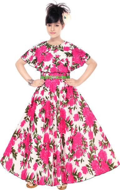ARK DRESSES Girls Maxi/Full Length Party Dress