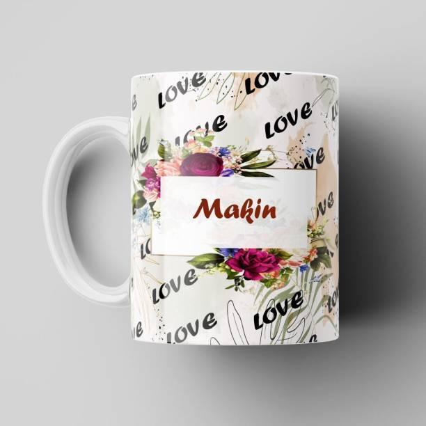 Beautum Love Makin Romantic Name White Ceramic Coffee Best Gift For Loved Ones Model No:BLVNM011457 Ceramic Coffee Mug