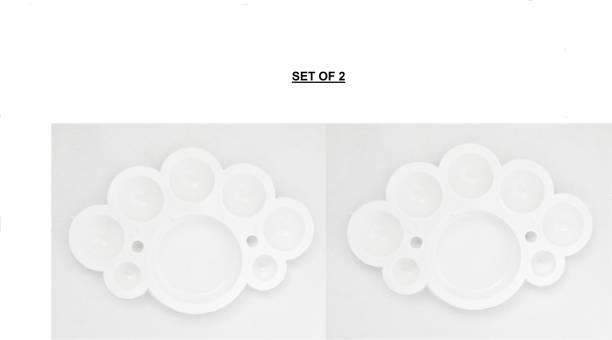 KEYUR Plastic 7 Paint Wells Palettes