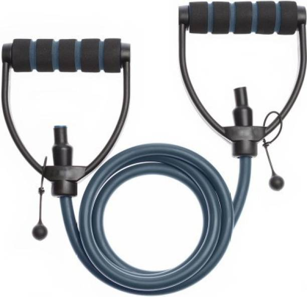 Gjshop Toning tube single tube ab exerciser plastic handle chest body stretching rope Resistance Tube