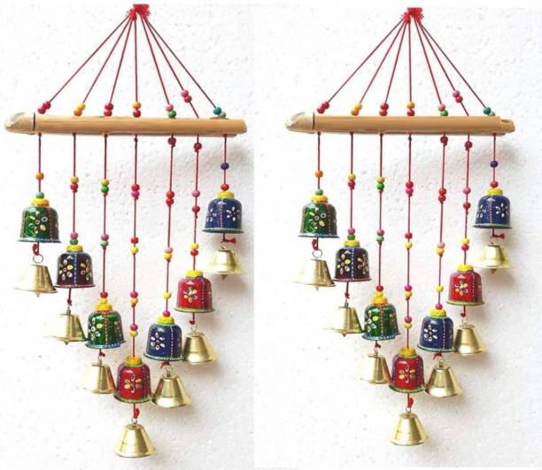 Brothers creation Handcrafted Rajasthani Bells Design Wall Hanging Decorative wall decoration