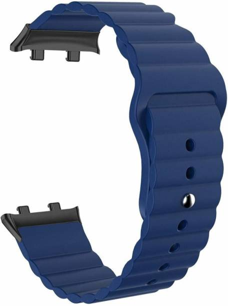 gettechgo Premium Soft Liquid Silicone Loop Strap Band Compatible with Oppo Watch 46mm (Navy Blue) Smart Watch Strap
