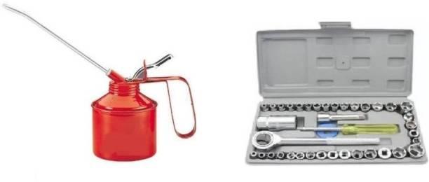 vyas Socket Set Socket Wrench Sleeve Suit Hardware Auto Car Repair Tools Wrenches Set,tool kit set for home use Socket Set AND Vehicle Oil Manual Pump Socket Set