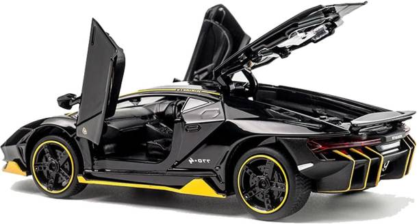 Obvie Lamborghini Centenario Die Cast Metal Fast and Furious Luxury Pull Back Car Toy with Light and Sound