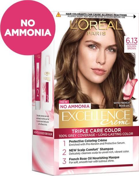L'Oréal Paris Excellence Creme Hair Color , 6.13, Golden Brown