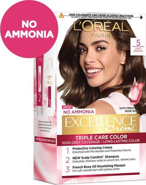 L'Oréal Paris Excellence Creme Hair Color , 5 Light Brown