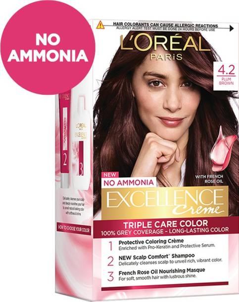 L'Oréal Paris Excellence Creme Hair Color , 4.20, Plum Brown