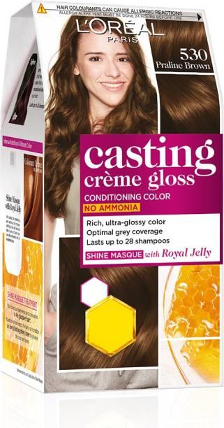 L'Oréal Paris Casting Creme Gloss Hair Color , Praline Brown 530