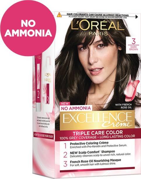 L'Oréal Paris Excellence Creme Hair Color , 3 Dark Brown