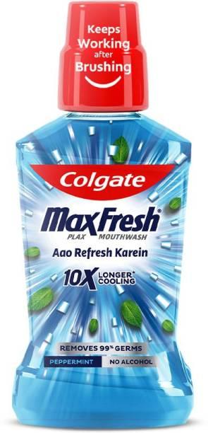 Colgate MaxFresh Plax Antibacterial Mouthwash - Peppermint Fresh
