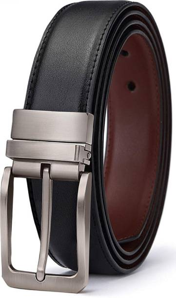 new pine Boys Casual, Party, Evening, Formal Black, Brown Texas Leatherite Reversible Belt