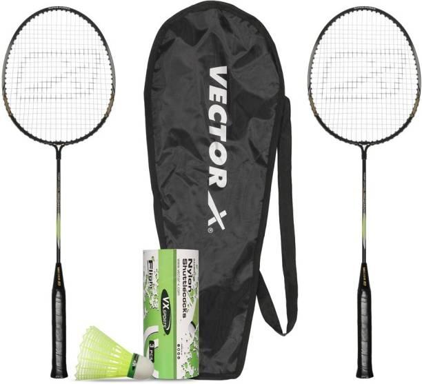 VECTOR X VXB-475 Racquets and Flight Shuttle Badminton Kit