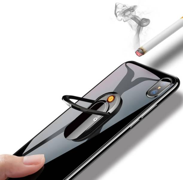 imad RING LIGHTER Metal Phone Ring Stand Holder Cellphone Finger Grip 360 Degree Rotation Cool Lighter Cigarette Lighter