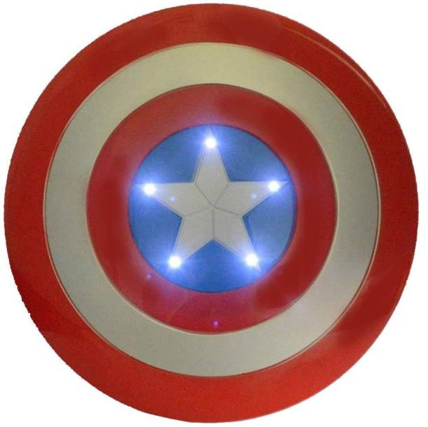 HALO NATION Captain America Shield Toy with Light & Sound Realistic Design Avengers Toys Avengers Captain America Shield 12inch/31cm Diameter Shield Toy Avengers Toy