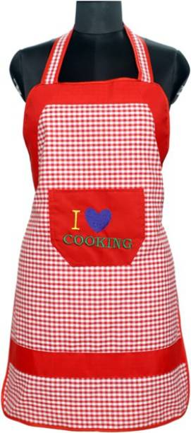 JMI Cotton, Polyester Home Use Apron - Free Size