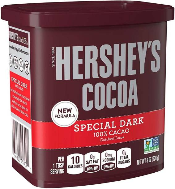 HERSHEY'S Special Dark 100% Cocoa (Natural and Dutched Cocoas), Imported Cocoa Powder