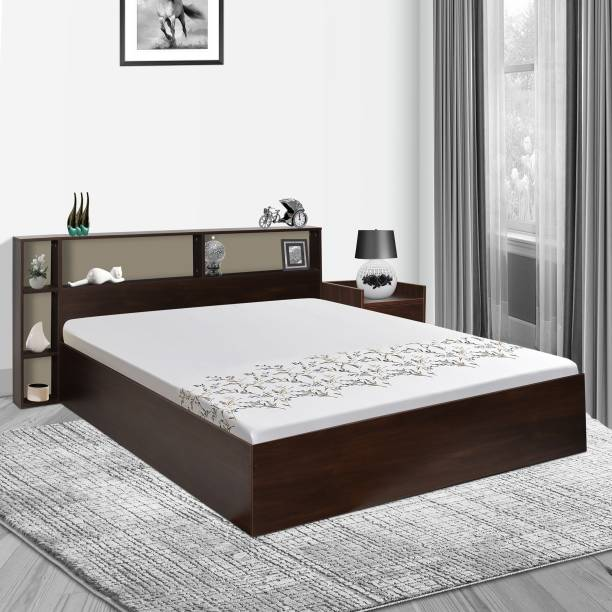 TREVI Opal Bed With Storage Engineered Wood King Box Bed