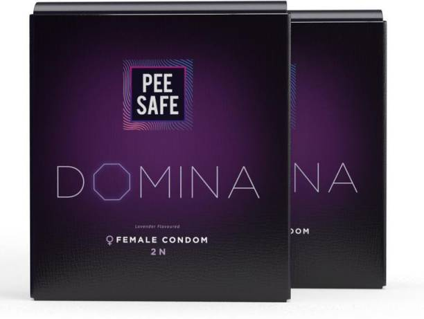 Pee Safe Domina Female Condom - Set of 4 | With 4 Disposable Bags Condom