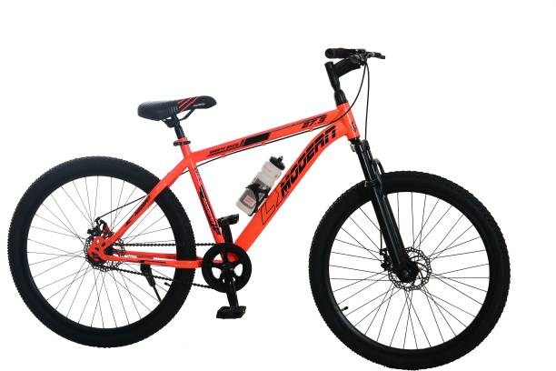 MODERN LX 27.5T Mountain Steel Bike/Cycle/MTB Front Suspension-Dual Disc Brakes (Orange) 27.5 T Mountain Cycle