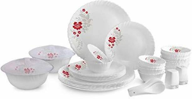 Cello Ariana Opalware Dinner Set 29 Pieces Sterling Silver