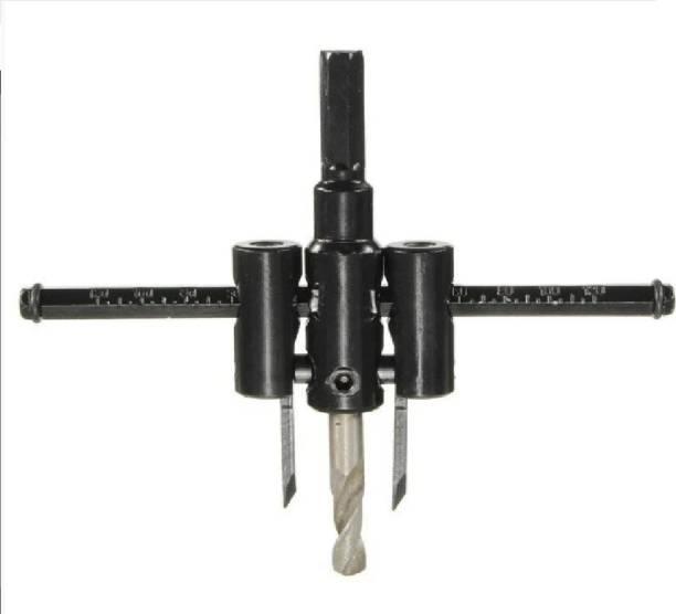 TruTool 0447_circle_cutter Adjustable Metal Wood Circle Cutter Kit Hole Saw Drill Bit DIY Tool 30-120mm