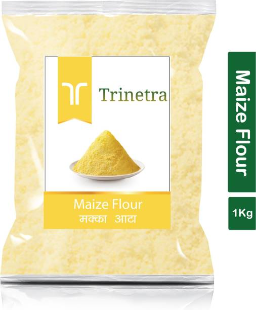 Trinetra Best Quality Makka Atta (Maize Flour)-1Kg (Pack Of 1)