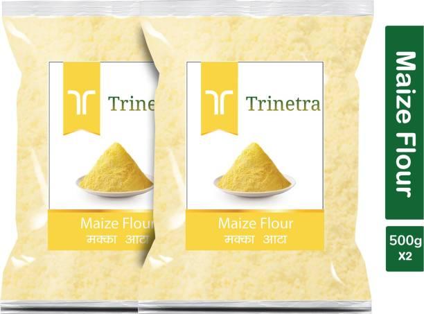 Trinetra Best Quality Makka Atta (Maize Flour)-500gm (Pack Of 2)