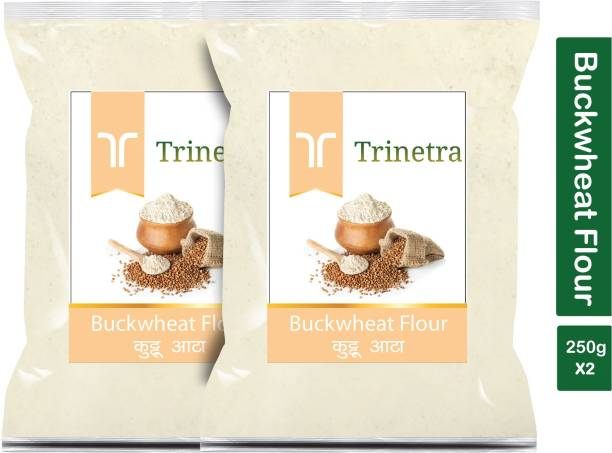 Trinetra Best Quality Kuttu Atta (Buckwheat Flour)-250gm (Pack Of 2)