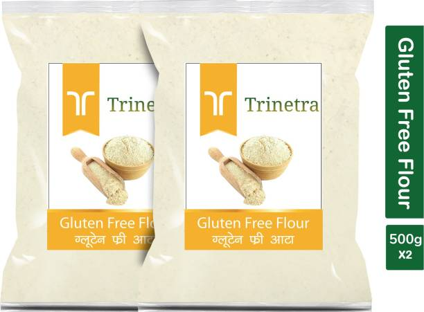 Trinetra Best Quality Gluten Free Flour / Gluten Free Atta 500g Pack of 2