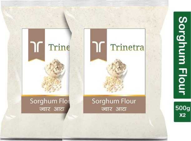 Trinetra Best Quality Jowar Atta (Sorghum Flour)-500gm (Pack Of 2)
