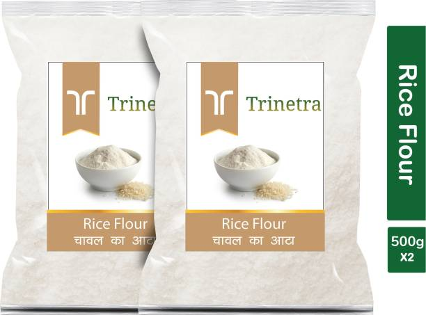 Trinetra Best Quality Chaval Atta (Rice Flour)-500gm (Pack Of 2)