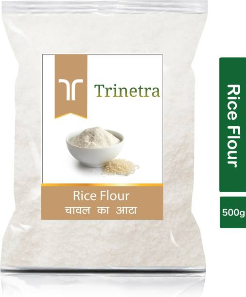 Trinetra Best Quality Chaval Atta (Rice Flour)-500gm (Pack Of 1)