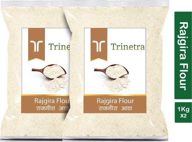 Trinetra Best Quality Rajgira Flour / Rajgira Atta 1Kg Pack of 2