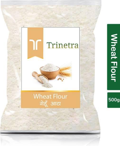 Trinetra Best Quality Gehun Atta (Wheat Flour)-500gm (Pack Of 1)