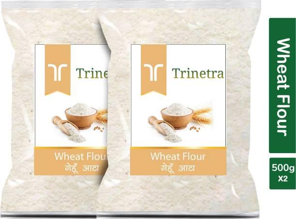 Trinetra Best Quality Wheat Flour / Gehoon Atta 500g Pack of 2