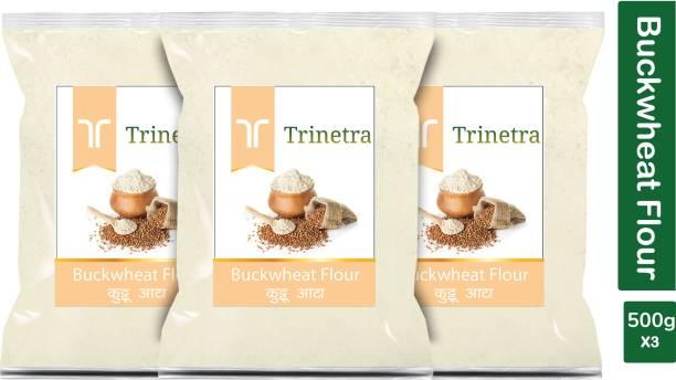 Trinetra Best Quality Buckwheat Flour / Kuttu Atta 500g Pack of 3