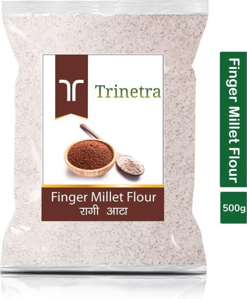 Trinetra Best Quality Ragi Atta (Finger Millet Flour)-500gm (Pack Of 1)